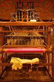Rear Traditional Wooden Handloom