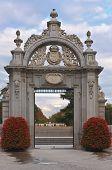 Entrance To The Parque Del Buen Retiro