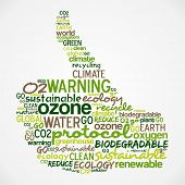 Go Green Words Cloud About Ecology In Hand