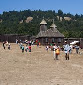 People In Fort Ross At Fort Ross Bicentennial Weekend