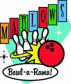 Bowling Sign Clip Art
