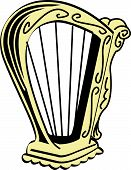 St. Patrick's Day Irish Harp Clip Art