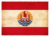 Grunge Flag French Polynesia