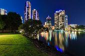 Australian Modern City At Night