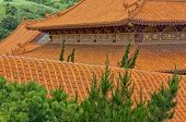 Tiled Roof At Hsi Lai Temple