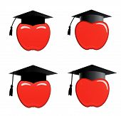 Apple In Graduation Cap