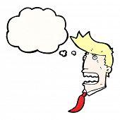gasping businessman cartoon
