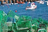 Lobster And Crab Traps Stack In A Port