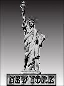 Liberty Vector Black Shadows Vector Silhouette Illustration