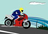 Motor biker