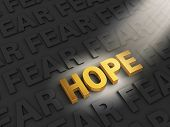 picture of hope  - A spotlight illuminates a bright gold  - JPG