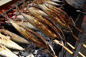 Gegrillter Fisch (Steckerlfisch) In München-Oktoberfest