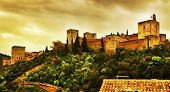 a view of La Alhambra in Granada, Spain