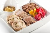 Grilled Meat Plate with PIckled Vegetable