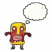 cartoon tribal mask character