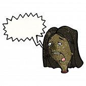 cartoon woman gasping