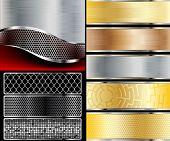 pic of line  - Illustration of abstract background with a metallic element - JPG