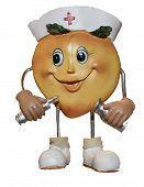 Figurine Of Nurse Peach   CLIPART