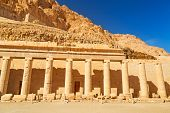 image of hatshepsut  - Columns in the Temple of Queen Hatshepsut in Egypt - JPG