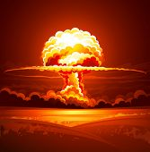 stock photo of fireball  - Nuclear explosion - JPG