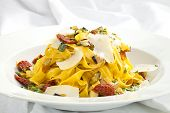 Fettuccine With Dried Tomatoes And Parmesan
