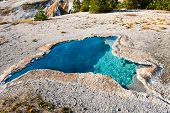 The Beautiful Blue Star Pool in Yellowstone National Park