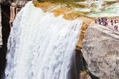 pic of granite dome  - Vernal Waterfalls in Yosemite National Park - JPG
