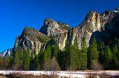 Bridalveil Waterfalls in Yosemite National Park,California