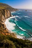 pic of bixby  - Beautiful Coastline  along the Mountains in Big Sur - JPG