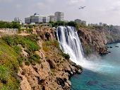 Turkey, Antalya, Seashore. Waterfall.
