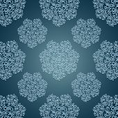 Seamless patterns with lace flowers in Victorian style