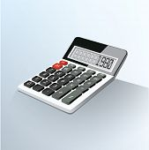 Vector illustration of realistic electronic calculator.