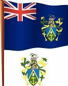 Ilhas Pitcairn bandeira ondulada