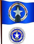 Northern Mariana Island Wavy Flag