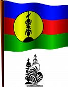 New Caledonia Wavy Flag