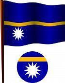 Nauru Wavy Flag