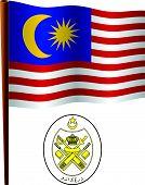 Malaysia Wavy Flag