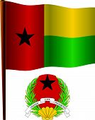 Guinea Bissau Wavy Flag