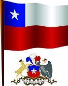 Chile Wavy Flag