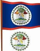 Belize Wavy Flag