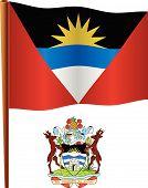 Ondulado bandera de antigua y Barbuda