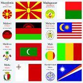 Capitais e bandeiras do mundo conjunto 14