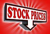 Stock precios Pricetag signo