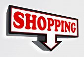 Shopping Red And Black Arrow Sign