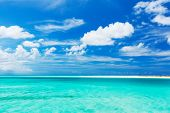 Tropical White Sand Beach and Sea In the Turks and Caicos Islands