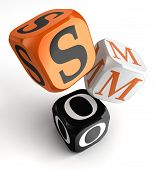 Smo Orange Black Dice Blocks