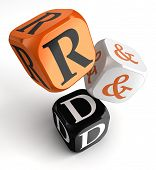 R&d Orange Black Dice Blocks