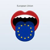 European Union language. Abstract human tongue.