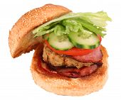Chicken Burger With Clipping Path