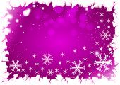 Purple winter background
